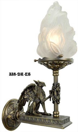Victorian-Gothic-Figural-Griffin-Wall-Sconce-(338-DK-ES)