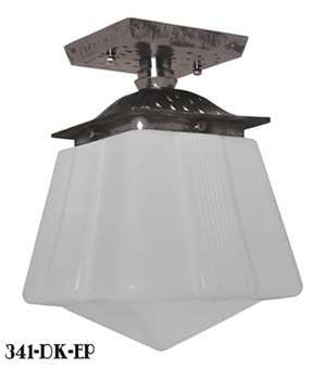 Craftsman-Flush-Mount-Porch-Light---Oil-Rubbed-Bronze-Finish-(341-OB-EP)