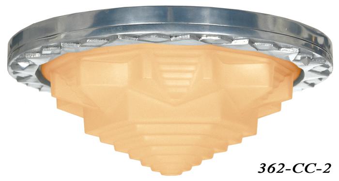 ... Art-Deco-Flush-Mount-Ceiling-Bowl-Light-with- ...