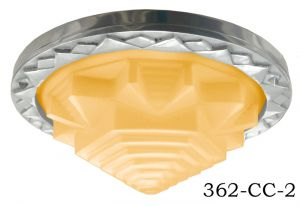 Art-Deco-Flush-Mount-Ceiling-Bowl-Light-with-Choice-of-Frosted-or-Amber-Shade-(362-CC-1)