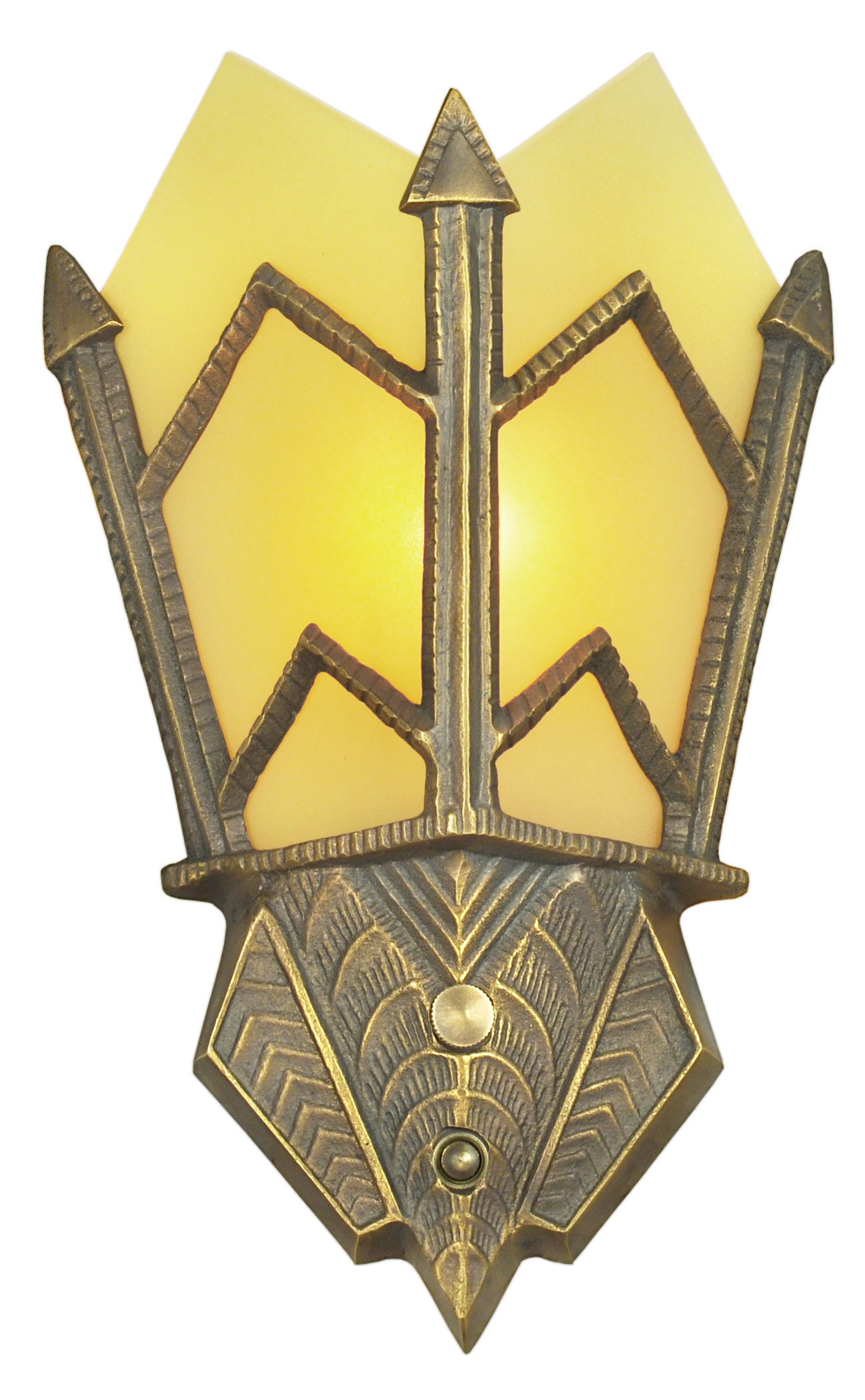 Vintage Hardware & Lighting - Art Deco Sconce Manhattan Series ...