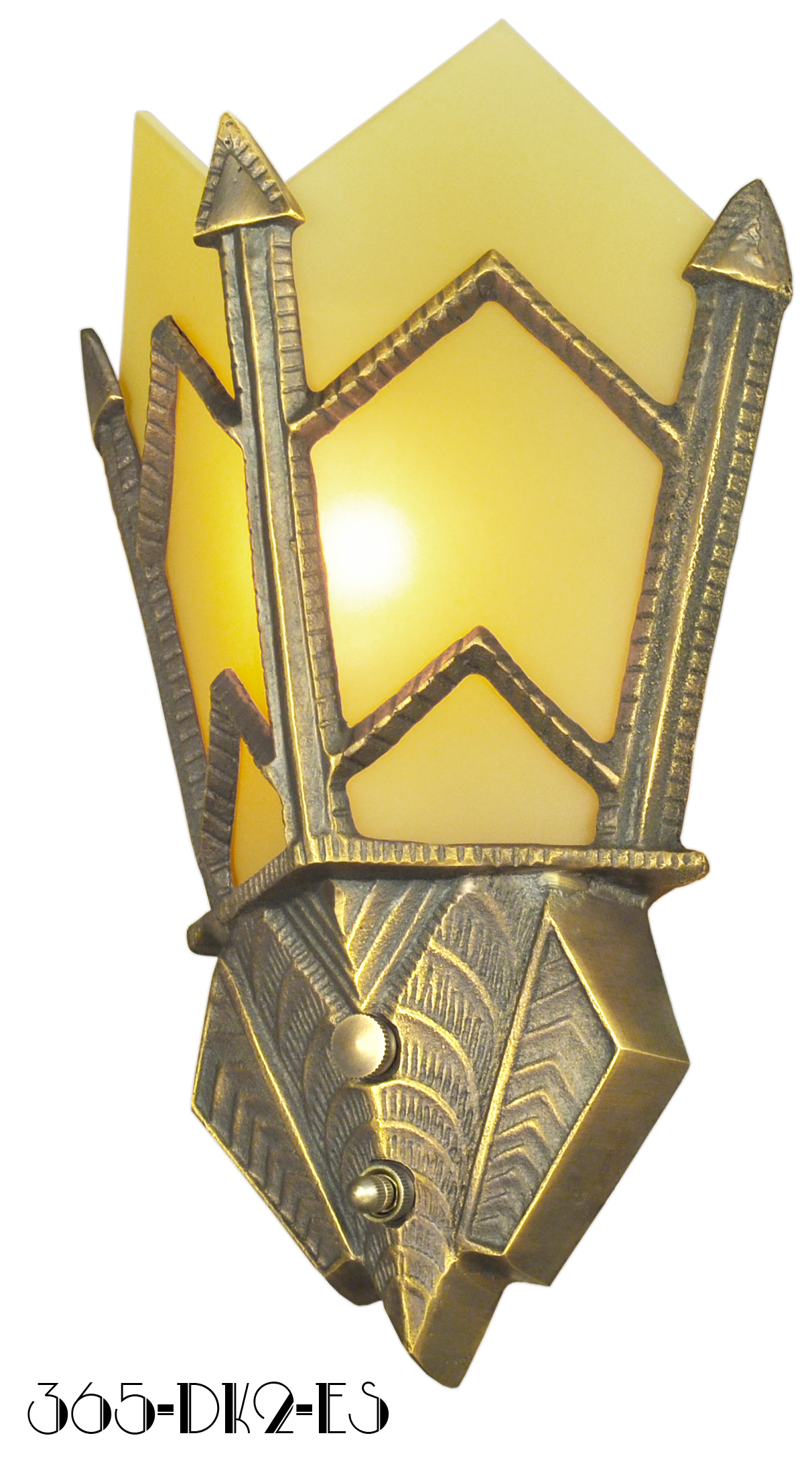 Vintage Hardware & Lighting - Art Deco Sconce Manhattan Series ...