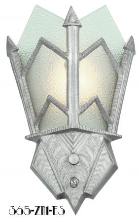 Art Deco Sconce Manhattan Series - Choice Of Shade Color (365-ZN1-ES)