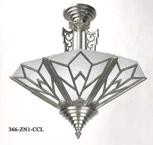 Art Deco Manhattan Close Ceiling Chandelier (366-ZN-CCL)