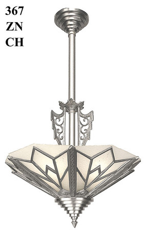 Art Deco Manhattan Tall Chandelier (367-ZN1-CH)