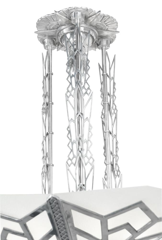 Large Art Deco Chandelier Manhattan Commercial Lighting
