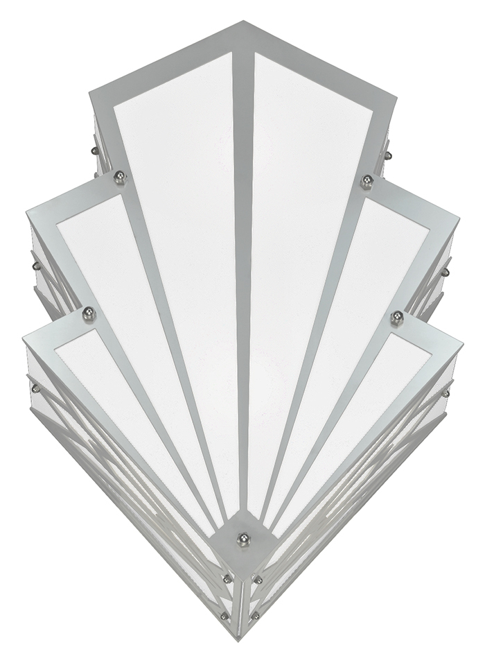 Art Deco Large Outdoor Wall Sconce