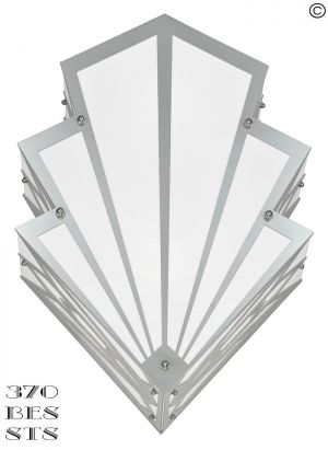 Art Deco Large Outdoor Wall Sconce Porch Light Exterior Lighting (370-BES-STS)