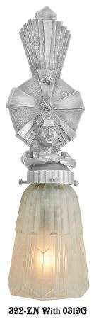 Art Deco Wall Lighting Figural Sconces Oscar Series (392-ZN)
