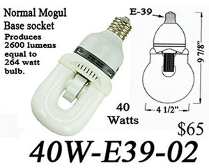 Induction Mogul Base E39 Light Bulb