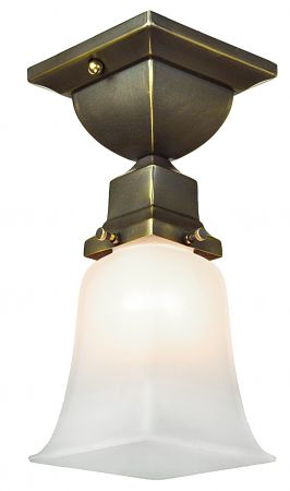 Vintage hardware lighting arts and crafts craftsman and mission style flush mount very close ceiling light 416 mvcc aloadofball Choice Image