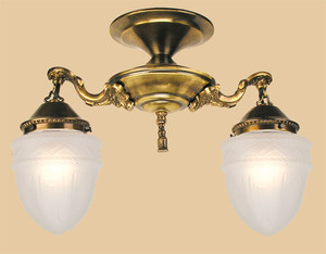 Roosevelt 2 Lamp Close Ceiling Chandelier (422-CCL)