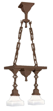 Mission Chain Mounted Double Pendant Ceiling Light (423-SPN-EP)
