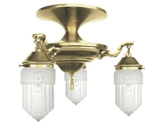 Roosevelt 3 Lamp Close Ceiling Chandelier (433-CCL)
