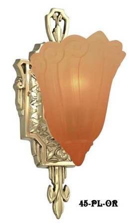 Art-Deco-Wall-Sconces-Fixtures-Slip-Shade-Fleur-De-Lis-Series-by-Lincoln-(45-MDS-OR)