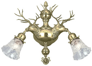 Deer Or Elk Head Wall Sconce (452-DEA-ES)