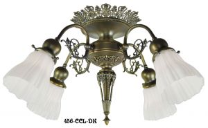 4 Light Pierced Brass Short Chandelier (456-CCL-FC)