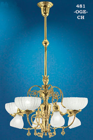 Recreated Oxley-Giddings 8 Light Vase Center Chandelier (481-OGE-CH)