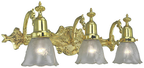 brass bathroom lighting fixtures. vintage hardware u0026 lighting victorian style triple bathroom light choice of finish 500bathd brass fixtures o