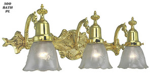 Victorian Style Triple Bathroom Light - Choice Of Finish (500-BATHD)