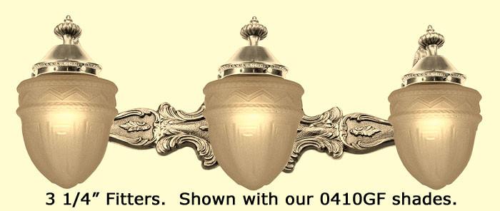 Bathroom Lights Victorian Style vintage hardware & lighting - victorian style triple bathroom