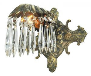 Art Deco Wall Sconce Elegant Crystal Recreated Antique Light Fixture (501-ES)
