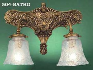 Victorian Sconce - Edwardian Or Art Nouveau Double Sconce (504-BATHD)
