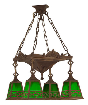 Mission 4 Light Chain & Pan Chandelier Chain Shade (526-LPN-C1)