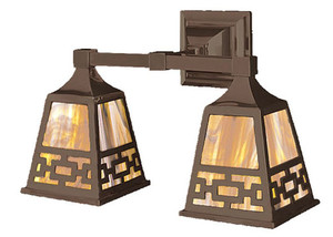 Mission Double Wall Sconce Chain Shade (537-DC1-ES)