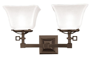 Mission Style 2 Arm Gaslight Sconce (540-DGS-ES)