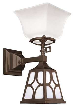 Transitional Mission Sconce Diamond Shade (545-SJ3-GE)