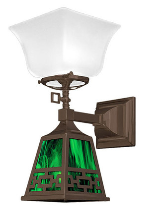 Transitional Mission Sconce Chain Design Shade (546-SC2-GE)