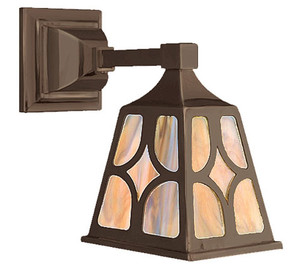 Mission Style Single Electric Wall Sconce Light J Shade (548-MJ1-ES)