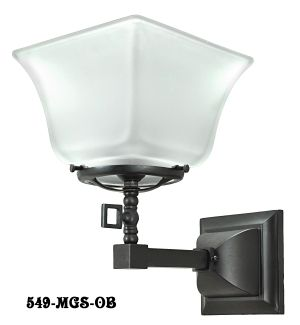 Gas Mission Style Single Sconce (549-MGS-ES)