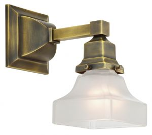 Mission Style Single Electric Wall Sconce -No Shade- (551-ES-DK)