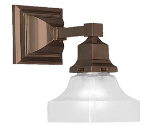 Mission Style Single Electric Wall Sconce -No Shade- (551-ES)