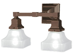 Mission Double Electric Sconce (552-ES-PL)