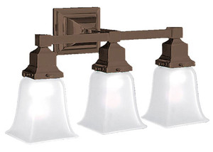 Mission Style Triple Sconce - Choice Of Finish (553-ES)