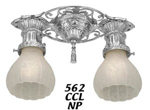 Victorian Fancy Close Ceiling 2 Light (562-CCL-NP)