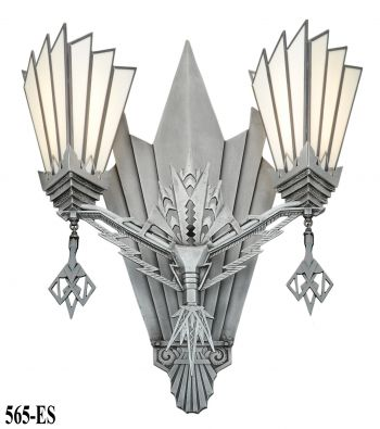 Impressive Large Theater/Commercial Art Deco Sconce (565-ES)
