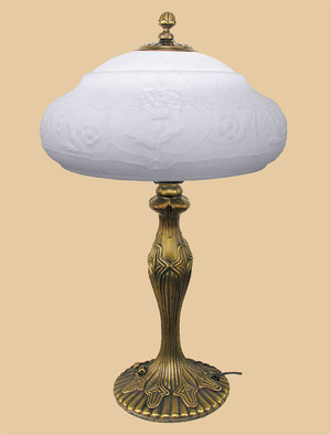 Art Deco Table Lamps Katherine Series with Satin Opal Glass Shades (577-KTL-FP)