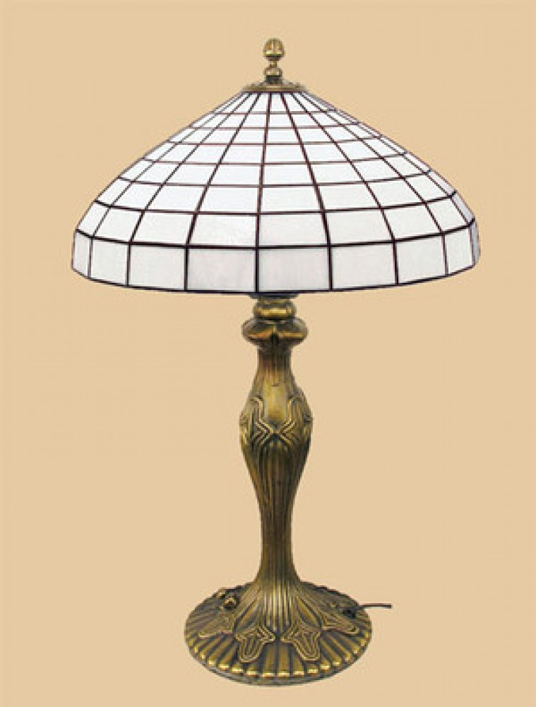 Art Deco Table Lamps Katherine Series with Leaded Art Glass Shades (577-LTL-FP)