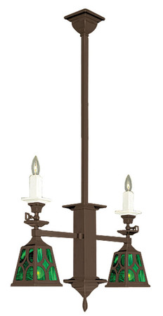 Mission Gas Candle & Elec J Shade Light (582-DJ1-SA)