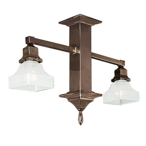 Mission Style 2 Arm Pendant Close Ceiling Light (588-SCC-DE)