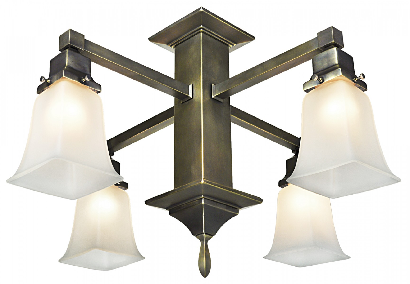 Mission Style 4 Arm Pendant Close Chandelier 589 Scc Qe