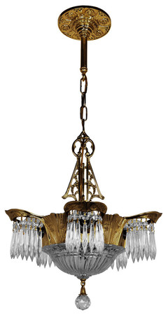 Art Deco Lighting Crystal Prism Lincoln Utopia Chandelier (5905-CRS-DK)