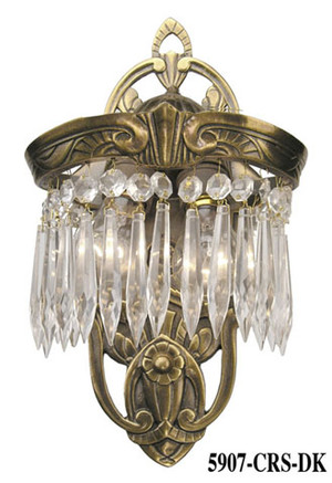Art Deco Wall Sconces Crystal Lincoln Utopia Series with 2 Lights (5907-CRS-DK)