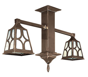 Mission Short Pendant 2 Arm Close Ceiling Light J Shade (591-DJ1-CC)