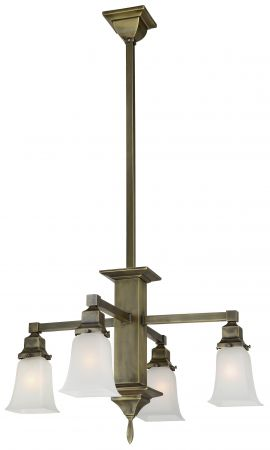 Mission Long Stem 4 Arm Electric Chandelier (594-SAE-CH)