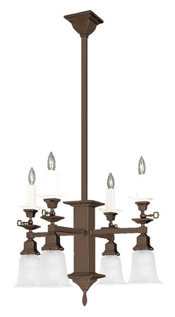 Mission Candle & Electric 8 Light Chandelier (598-SGE-SA)